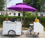 Гарантированная качеством передвижная тележка мороженного с замораживателем на горячем сбывании