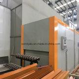Profil en aluminium de granulation en bois pour le modèle européen de guichet en aluminium