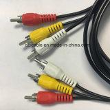 Cable del RCA, (3) enchufe del RCA (3) al cable del enchufe del RCA