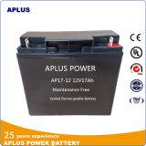 Baterias populares 12V 17ah do UPS do modelo no mercado francês
