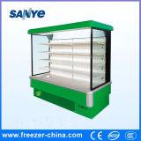 Showcase comercial do refrigerador dos vegetais da bebida da leiteria da cor verde