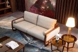 2017 sofá de couro da noz 1+2+3 americanos novos da chegada para a casa (HC6603)