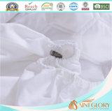 Almofada de colchão de microfibra de poliéster sintético e fibra de fibra branca