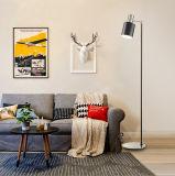 Níquel de Ce/UL Matt y lámpara de suelo ligera derecha de interior moderna negra para el dormitorio/la sala de estar