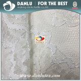 Nylon / Poly / Spandex Forme la tela bordada del cordón para el vestido de la ropa