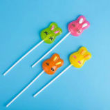 3D cartón Conejo Forma Tiempo libre duro Lollipop Caramelo