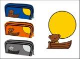 子供の方法かわいい文房具(KL397)のための漫画の学校の鉛筆袋