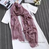 Sciarpa tessuta acrilica di inverno caldo normale all'ingrosso di colore (HP12)