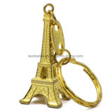 Dimensión de una variable de encargo Keychain de la torre Eiffel del metal de la buena venta 2017