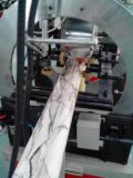 Línea plástica estirador de la máquina del azulejo de mármol artificial de la tira del Faux del PVC