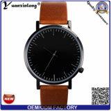 Frauen-beiläufige lederne Armbanduhr-Charme-Mode-Armband-Dame-Uhr-Mann-Förderung-einfacher Entwurfs-Uhr-Fabrik der Form-Yxl-401 2016