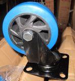 4 인치 5 인치 E 코팅 부류를 가진 중간 무거운 PU 회전대 피마자 바퀴