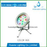 316ss indicatore luminoso subacqueo di illuminazione del raggruppamento del punto LED con il treppiedi