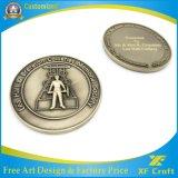 중국 제조자 제작자 주문 금속 또는 앙티크 또는 기념품 또는 금 또는 군 은 경찰은 도전한다 로고 (XF-CO04)를 가진 동전에