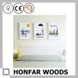 جدار فنية حديثة بيضاء خشبيّة صورة ملصقة إطار