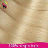 El tejer hecho a máquina completo rubio vendedor superior del pelo del pelo humano