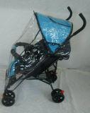 Schwarze Farben-Stahlrahmen-Baby-Laufkatze mit Regen-Mantel (CA-BB262)