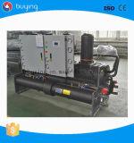 Tipo Semi-Hermetic refrigerador Water-Cooled do parafuso do parafuso do compressor para a máquina de impressão