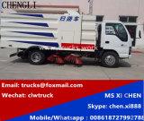 Isuzu 600p 4X2 LHD 3m3 진공 청소 거리 도로 스위퍼 트럭