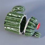 معمل صب تصميم اللون الأخضر يزجّج خزفيّ شمعة مرطبان مع أغطية