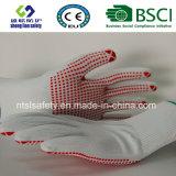 Gant de travail de sûreté de 13 de G de polyester d'interpréteur de commandes interactif points de PVC