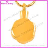 Mooie Roestvrij staal van het Gouden Plateren van de Halsband van de Juwelen van de as nam het HerdenkingsTegenhanger toe