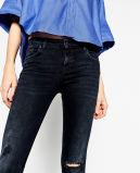 Umgearbeitete Frauen dünne kurze Hose mit Löchern