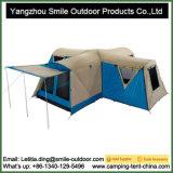 Barraca de acampamento da parte superior do telhado do quarto impermeável da família 3 grande