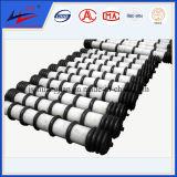 Rolos de transportadores de marca chinesa famosos de dupla linha para motores de mineração de carvão, cimento, usina com bom preço e qualidade