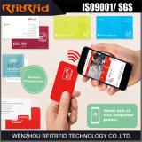 Tarjeta de visita de encargo NFC RFID Impresión grabable