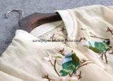 Cappotto giallo del `S delle donne del poliestere breve