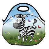 Saco fresco isolado desenhos animados do saco do piquenique do saco de Tote do almoço do neopreno com fecho de correr & punhos