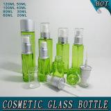 Impression privée d'air d'écran de bouteille de pompe en verre vert