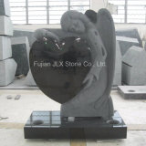 European Black Granite Angel Heart Design Headstones