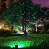 屋外の防水星の赤い緑のクリスマスの庭のレーザー光線