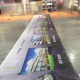 Standardim freienbekanntmachenfahnen-Drucken-Gebäude-Vinylverpackungs-Ineinander greifen-Fahne