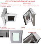 Marco esmaltado doble Windows del PVC con diseño de las parrillas