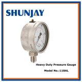 Calibrador de presión comercial del puntero ajustable del rojo