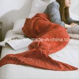 Crochet 70% Orlon e coperta della coda della sirena del tessuto di cotone di 30%