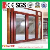 Porte en aluminium de tissu pour rideaux de taille personnalisée double par glace