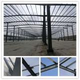 Profissional no edifício da construção de aço