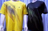 Mens 100% de la impresión de la sublimación de Moisturement del poliester/camiseta de secado rápido del deporte de las señoras