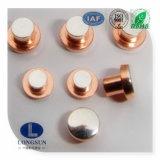 Contact de cuivre argenté bimétallique électrique de rivet pour le commutateur d'interruption de chargement