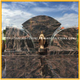판매를 위한 Shanxi 절대적인 까만 화강암 기념하는 묘비