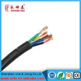 Câble souple de cuivre de gaine de PVC de conducteur de faisceau de Rvv 3+2