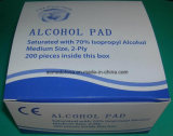 Ce / ISO Aprobado Médico no tejido Tejido de alcohol estéril