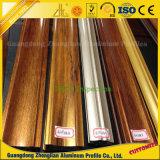 Section en aluminium rectangulaire d'imitation des graines en bois de fluorocarbone pendant des 10 années extérieure