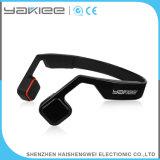 Auricular sin hilos negro del micrófono de Bluetooth de la conducción de hueso