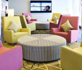 파이브 스타 호텔 로비를 위한 분홍색 악센트 의자 로비 착석 소파 가구