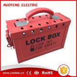 携帯用鋼鉄グループの安全ロックアウトボックスキット